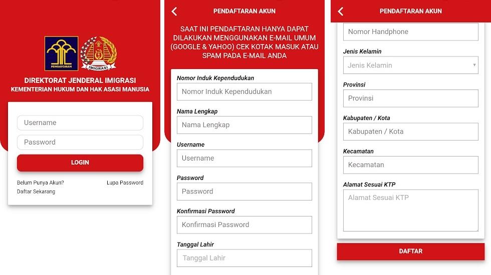 cara pembuatan paspor online melalui aplikasi