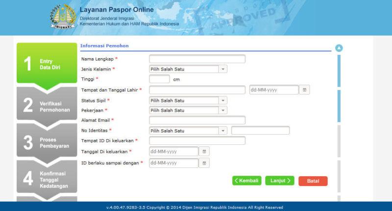 bikin paspor melalui website
