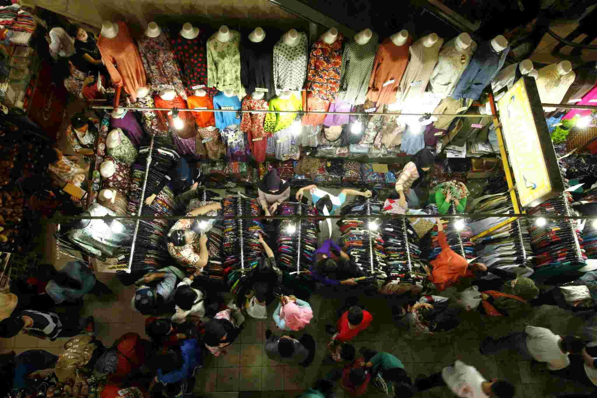 tempat belanja di Pasar Baru Bandung